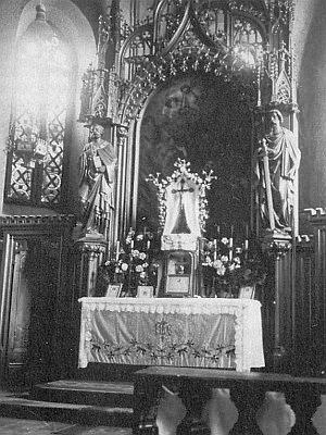 Někdejší hlavní oltář kostela veSvatémTomáši