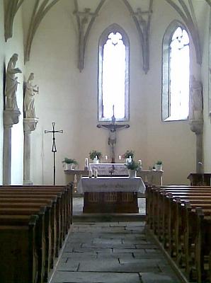 Interiér kostela ve Svatém Tomáši (2009)