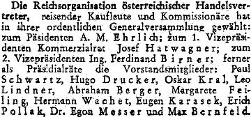 Mohl to být on, zvolený v prosinci 1946 do předsednictva organizace rakouských obchodních zástupců? Praxe z obchodní školy by souvislost mohla naznačovat a jiný Eugen Karasek se v rakouském tisku ve čtyřicátých letech minulého století nevyskytuje...