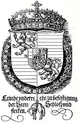 Znak krále Ferdinanda I. navržený samotným Albrechtem Dürerem v roce 1527