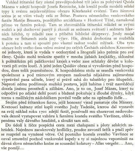 O faře ve Štítarech se Ladislav Stehlík rozepsal i v souvislosti s bratry Mánesovými