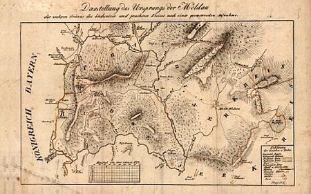 Krásná Hora s okolím na staré mapě (klikněte na náhled pro digitalizovanou mapu)