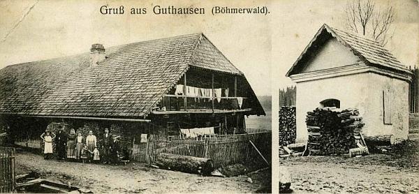 Stará pohlednice Dobré na Šumavě