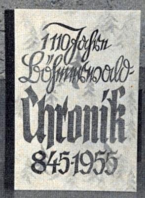 Jeho tehdy čtrnáctiletý syn vytvořil tuto kroniku 1110 let Šumavy pro žákovskou soutěž v roce 1967