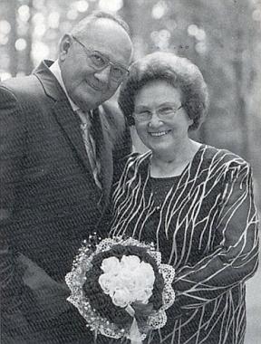 O zlaté svatbě se svou ženou Theresií, roz. Weberovou