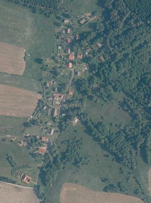 Lužnice u Pohorské Vsi na leteckých snímcích z let 1952 a 2010