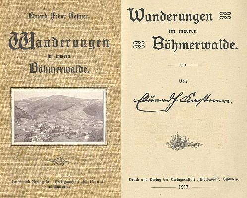 """Obálka a titulní list knihy vydané v budějovickém nakladatelství """"Moldavia"""" (1917)"""