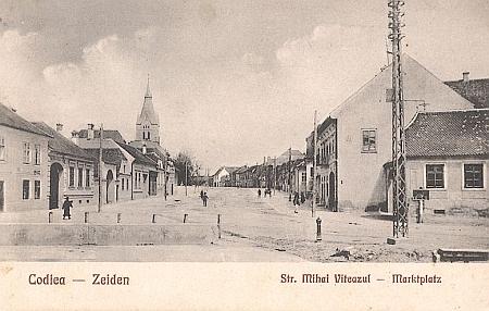 Rodná, dnes rumunská Codlea, na pohlednici z roku 1928...