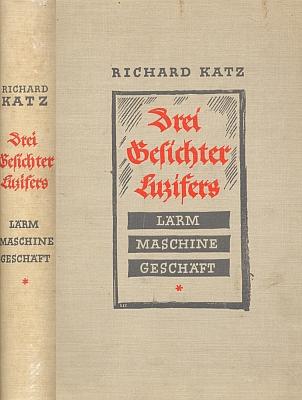 Vazba (1934) knihy, kterou už napsal i vydal ve Švýcarsku a v níž nechybí ani kapitola o Praze a o Golemovi