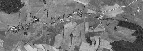 Někdejší Rožnov na leteckých snímcích z roku 1952 a 2008
