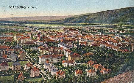 Rodný Maribor na staré pohlednici