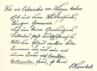Rukopis jedné z jeho básní