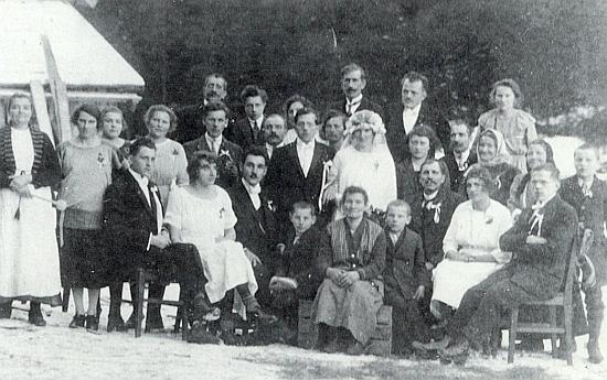 Svatba jeho rodičů