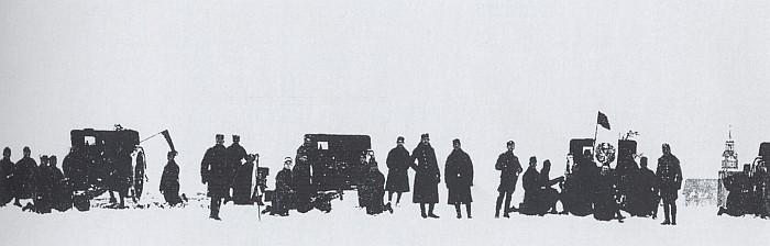 Československé vojsko těsně před obsazením města Český Krumlov dne 29. listopadu 1918