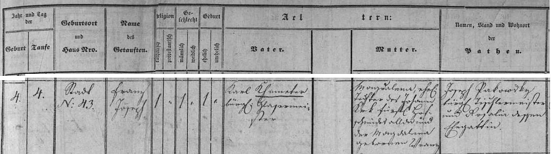 Zápis z krumlovské matriky narozených dokazuje, že datem jeho narození i křtu je skutečně 4. říjen roku 1845, kdy přišel na svět v rodině sklenářského mistra Karla Khemetera a jeho ženy Magdaleny, roz. Krkové