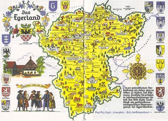 Chebsko s jeho jižní částí, běžně označovanou v německých pramenech jako Böhmerwald