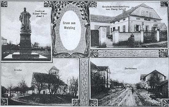 Dvě pohlednice z Meclova, ta starší ještě s pomníkem císaře Františka Josefa I.