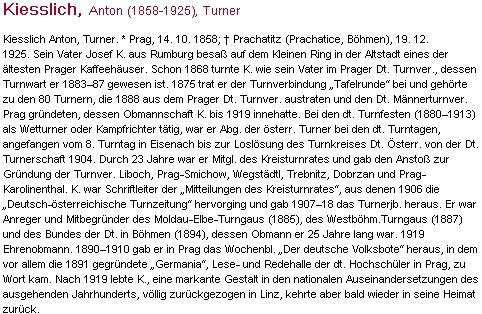 """Jeho obsáhlé """"turnerské"""" heslo v rakouském biografickém lexikonu"""