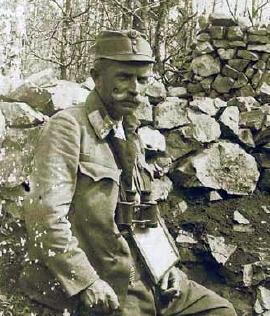 Jako podplukovník na italské frontě