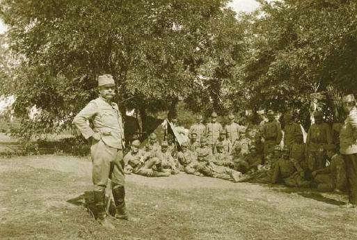 Major Kiesswetter na srbské frontě
