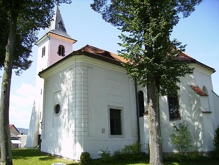 Kostel Umučení sv. Jana Křtitele v Záblatí, kde se odehrál svatební obřad (viz i Ludwig Wachtfeidl)
