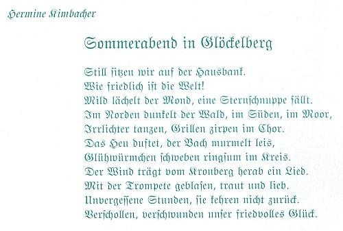 """Její báseň """"Letní večer ve Zvonkové"""" se objevila roku 2009 na obálce červnového čísla krajanského měsíčníku"""