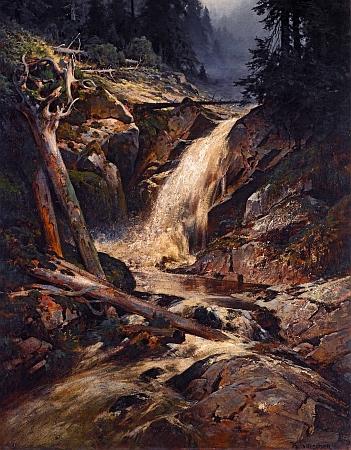 Vodopád na Šumavě je název obrazu Karla Liebschera (1851-1906) ze sbírek Národní galerie vPraze,     namalovaného někdy v osmdesátých letech devatenáctého století