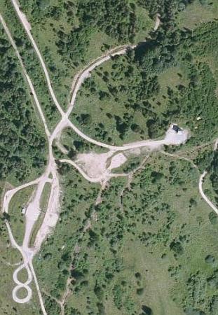 Kovářovice na leteckých snímcích z let 1947 a 2008
