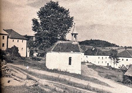 Kaple ve dnes zaniklých Horních (Německých) Brzoticích (Perschetitz)