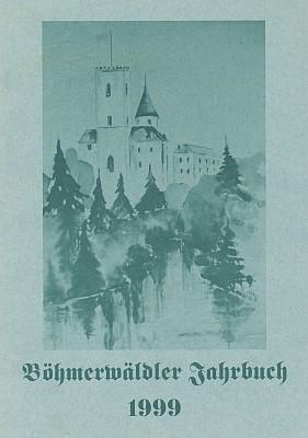 Obálka šumavského krajanského kalendáře s její lavírovanou kresbou hradu Rožmberk
