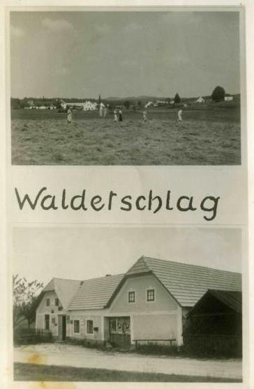 Rodný Valtéřov na staré pohlednici