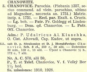 Už protektorátní diecézní katalog ho zachycuje jako administrátora farnosti Chanovice