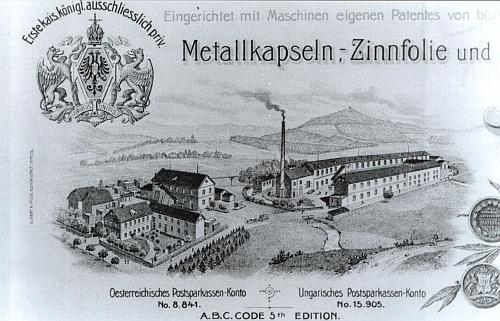 Tovární komplex Wilhelmshof na okraji Nemanic kolem roku 1900