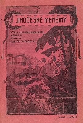 """Obálka (1925) knihy """"Jihočeské menšiny"""""""