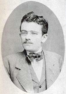 Jako student na snímku z roku 1877...