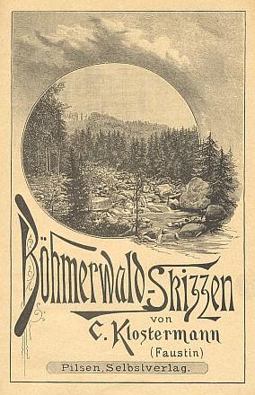 Obálka německy psané prvotiny (1890)