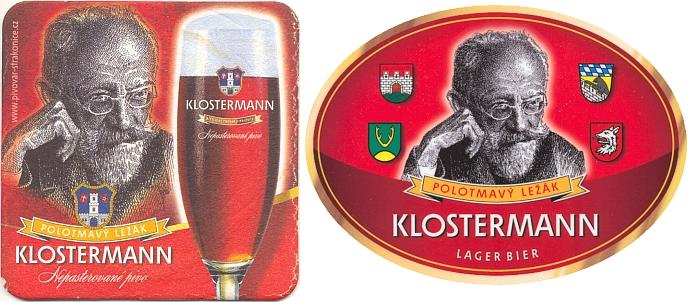 Jubilejní (2008) pivo jménem Klostermann pochází ze Strakonic a úspěšně se již několik let prodává i vyváží