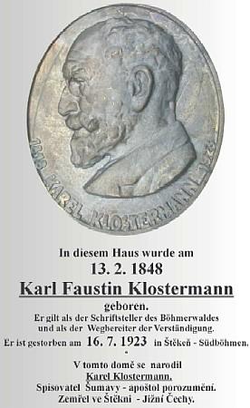 ... a návrh desky s německým a českým textem (viz i Gerold Dvorak)