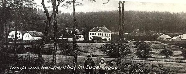 Někdejší Reichenthal na staré pohlednici