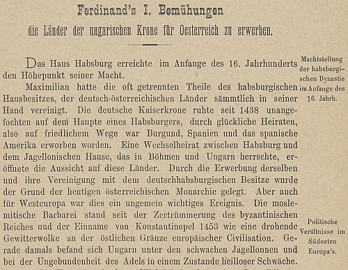 Titulní list a úvod jeho textu ve výroční zprávě prachatického gymnázia