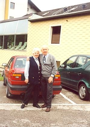 Arno a Magda Knyovi na snímku ze září roku 2000