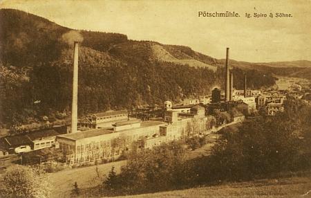 ... a to už je Pečkovský mlýn v roce 1910