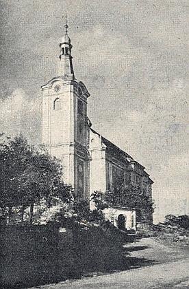 Kostel sv. Petra a Pavla v Bernarticích, které jsou dnes součástí StrážeuTachova
