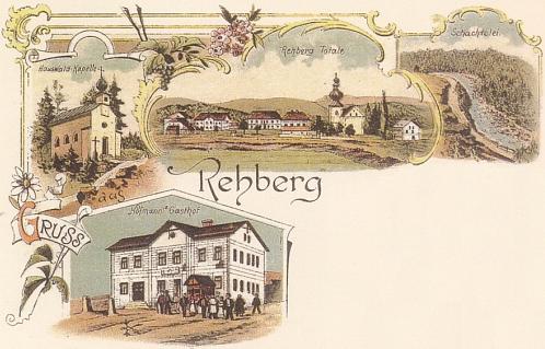 Srní na staré pohlednici