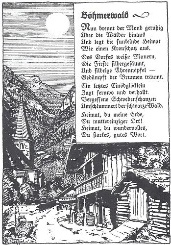 ... a jeho ilustrace k básni Hanse Watzlika