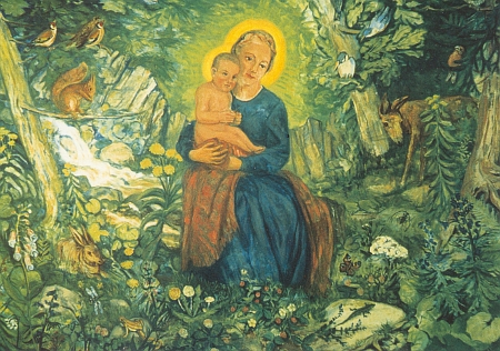 "Jeho malba ""Maria v lese"" zdobí oltář kaple ve Waldhäuser am Lusen"