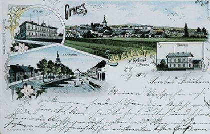 Litrbachy na starých pohlednicích i se školou, do které kdysi chodíval
