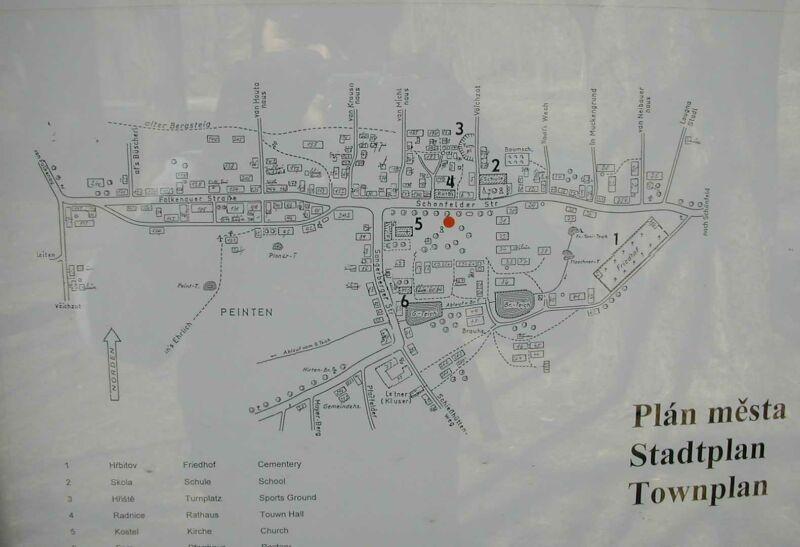 Plán městečka Litrbachy před zánikem