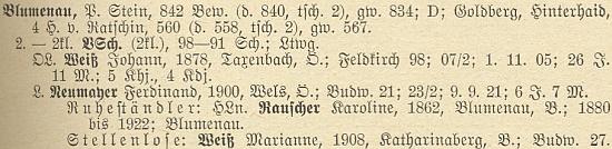 """Při seznamu učitelů v Květné figuruje pod svým dívčím příjmením s označením """"bezmísta"""""""