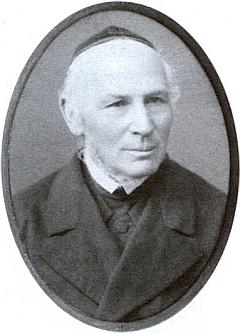 Českobudějovický krajský rabín Adam Wunder (1817-1905), jehož Jonáš v zápalu boje překřtil na Wandera